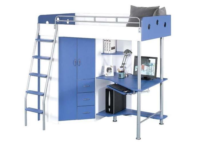 (1) SEULE) lit superposé avec bureau d'ordinateur, à VENDRE ou en ÉCHANGE