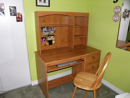 $130 OBO Wood Desk & Chair