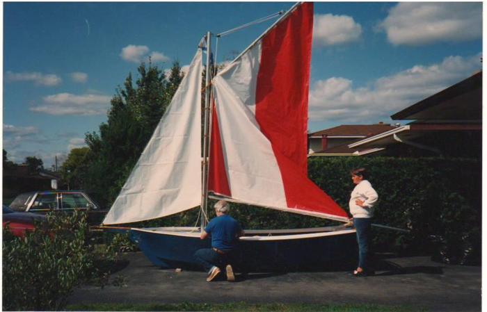 14' Mini Skipjack with sails and trailer
