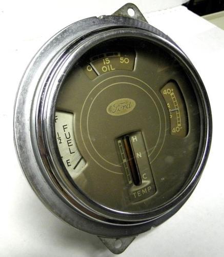 1939 38 37 Ford Car & Truck Dash Cluster Gauges Fuel,Oil, Temp,,Amp.