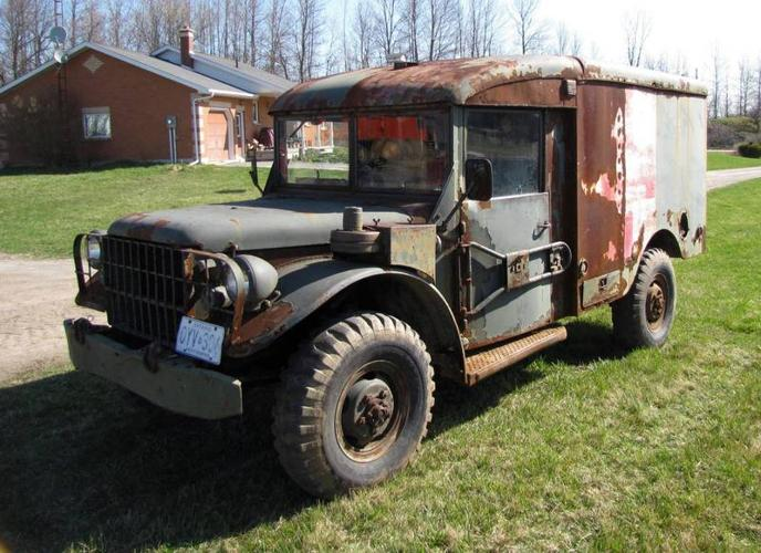 1952 Dodge Power Wagon Canadian Army Ambulance For Sale In