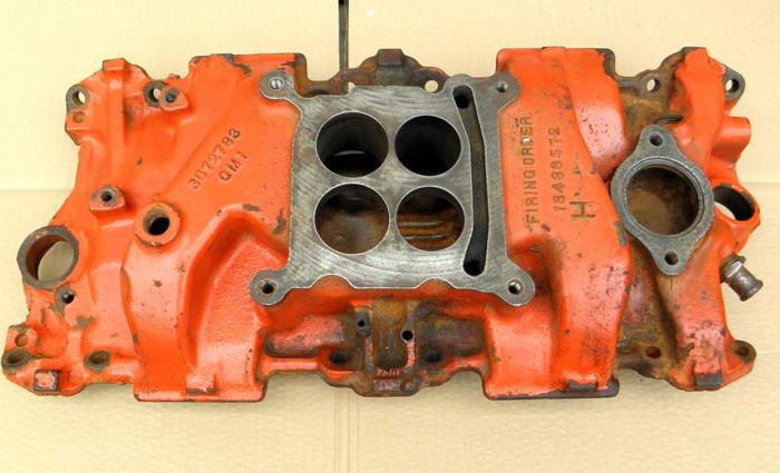 1966 67 Corvette 327-300HP Holley 4 BBL Intake Manifold Chevy Chevelle