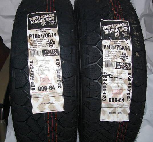 2 New Wintermark Magna Grip HT Winter Tires 185/70R14