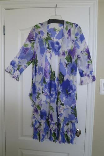 2 PIECE DESIGNER DRESS AND JACKET WITH SHOES AND JEWELLERY