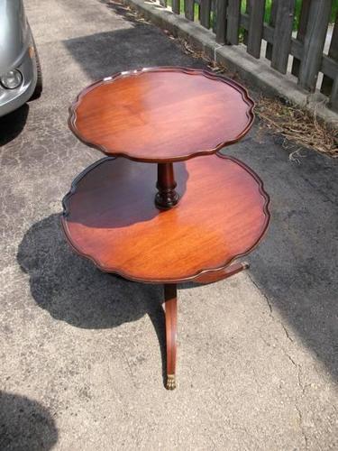 2 tier mahogany table