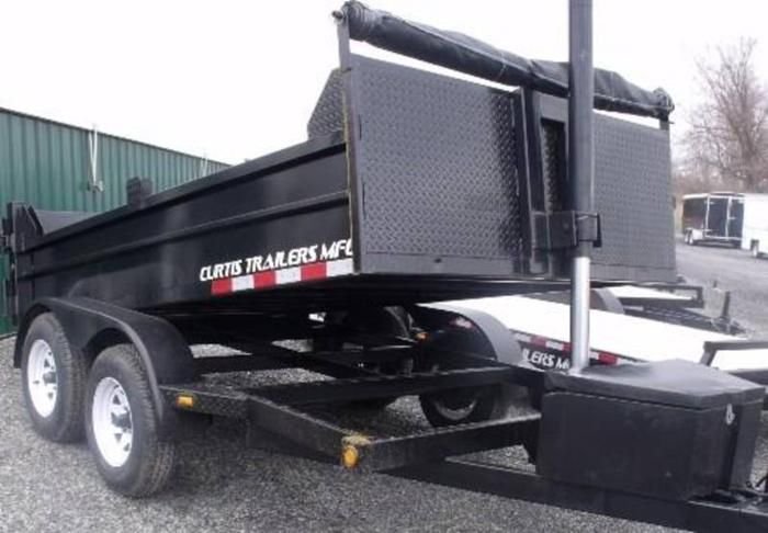 2012 DUMP TRAILER 6X10 BY CURTIS TRAILERS (#C4333)