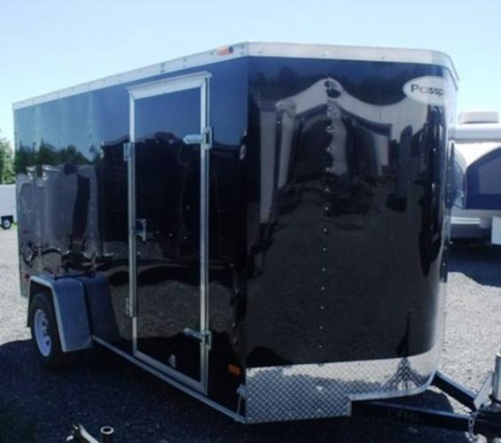 2012 HAULMARK PPT6X12DS2 CARGO TRAILER-BLACK IN COLOUR (#C4550)