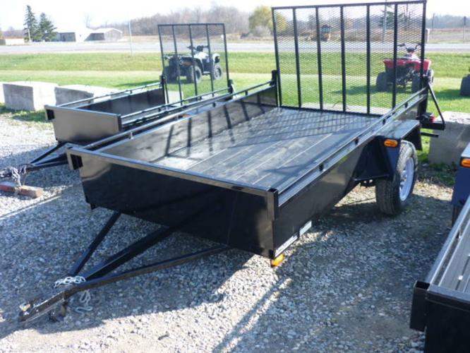 2012 New 6x10 Utility trailer. rear mesh ramps