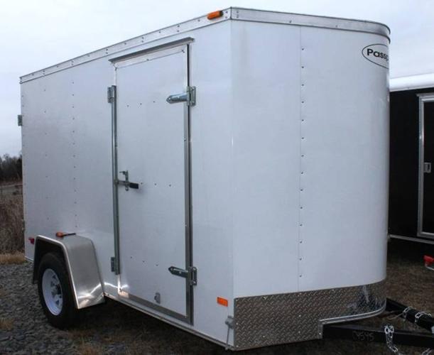 2012 PPT6X10DS2 WHITE CARGO TRAILER BY HAULMARK (#C4545)