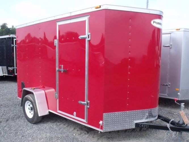2012 RED 6X10DS2 CARGO TRAILER BY HAULMARK (#C4351)