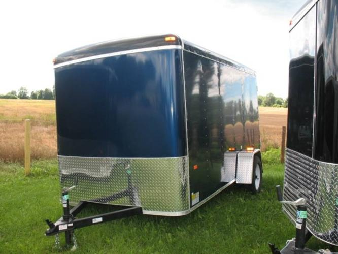 2012 us cargo 6x12 round front enclosed trailer barn