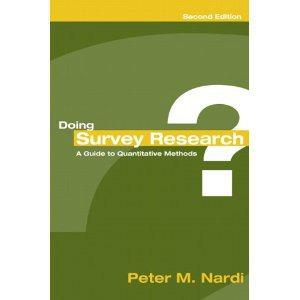 $25 Doing Survey Research: A Guide to Quantitative Methods