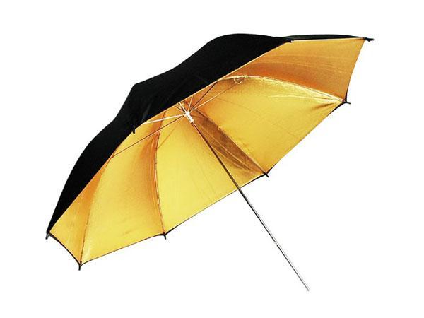 "33"" Black and Gold Umbrella Photo Reflector - NEW"