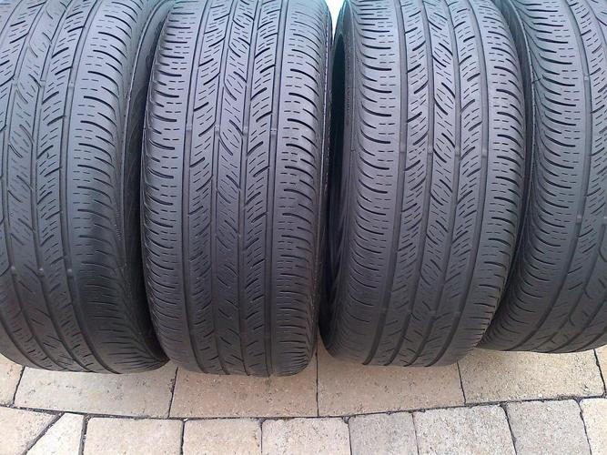 4 CONTINENTAL CONTIPRO CONTACT 215/50/17 ALL SEASON TIRES 55%
