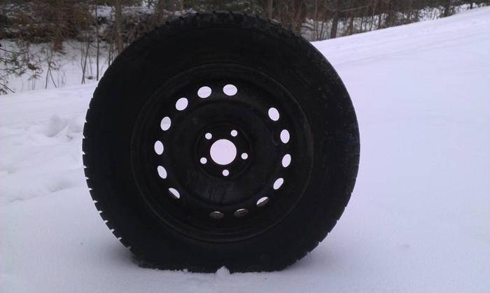 4 Gislaved Snow Radials on Steel Wheels for Volvo XC70