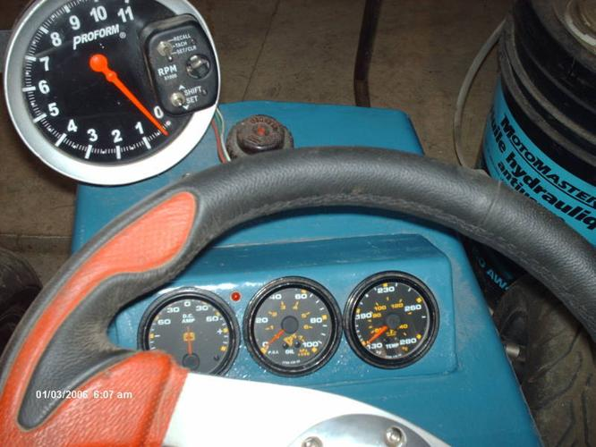 4 inch tach and shift light