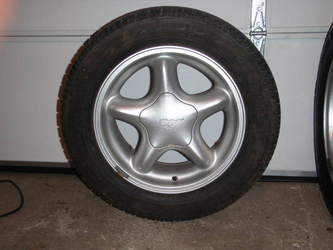 4- Mustang Rims and Tires