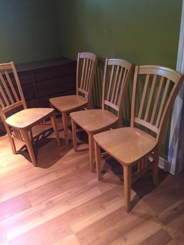 4 solid maple chairs - all for $60