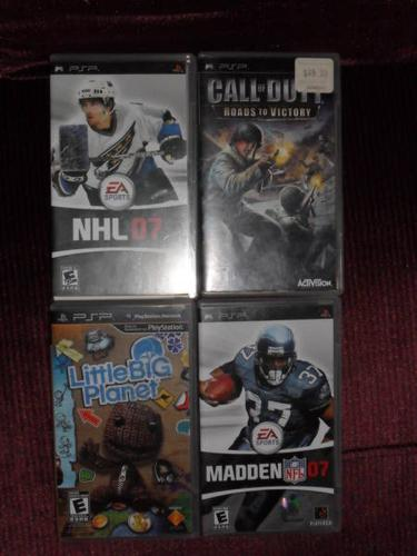 5 PSP GAMES FOR SALE!!!