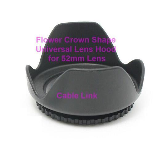 52mm Flower Shape Lenses Hood For Many Canon Nikon Cameras