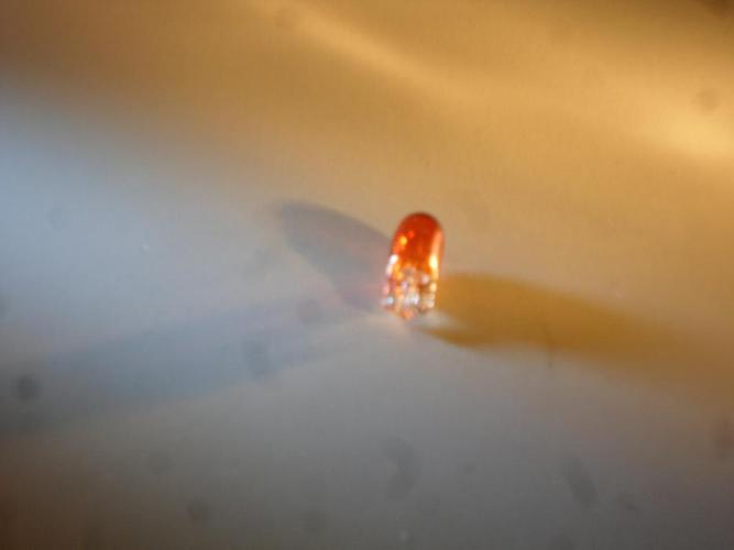 55V 3W T10 Orange Turn Signal Bulb(2)
