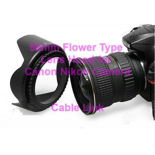 58mm Tulip Lenses Hood For Many Canon Nikon Cameras