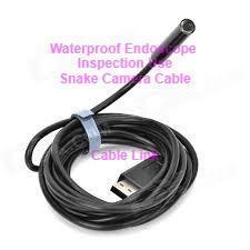 6 LED Waterproof Borescope Endoscope USB Cable Camera 2 Meters