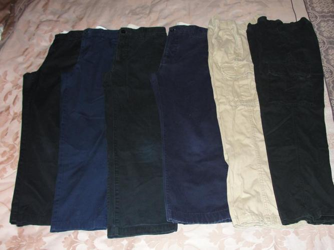 6 Pairs Boy's Size 12 Casual Pants