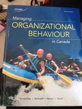 $60 OBO Managing Organization Behaviour MHR505