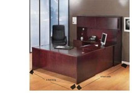 $600 OBO U-shape executive computer desk