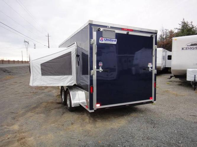 7x14 Pop out tent Vnose Cargo trailer Priced to sell! & 7x14 Pop out tent Vnose Cargo trailer Priced to sell! for sale in ...