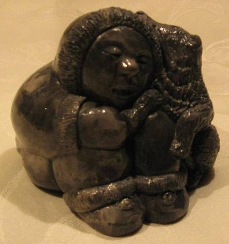 aardik collection stone carving eskimo boy dog for sale in burlington ontario ads in ontraio. Black Bedroom Furniture Sets. Home Design Ideas