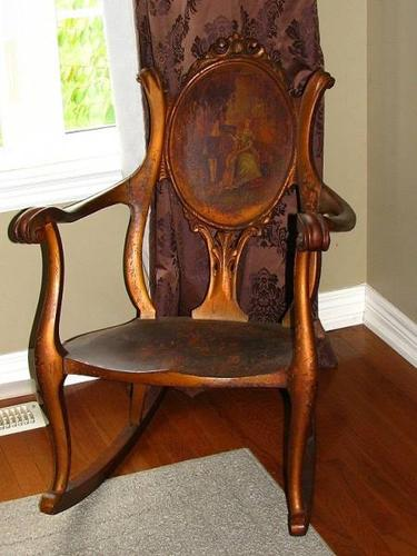 Antique Rocking Chair Rocker Early 1900 S F H Conant S