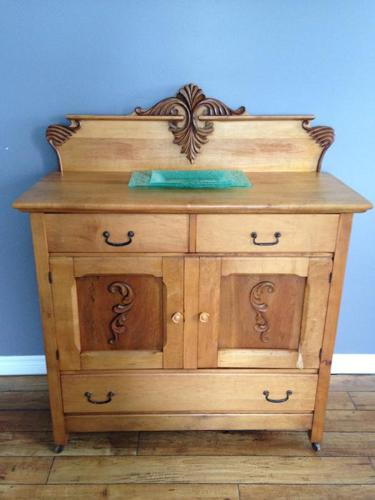 Antique Solid Maple Washstand (or used as Sideboard)