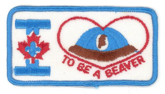 Badge - Scouts Canada - Beavers - I Love To Be A Beaver