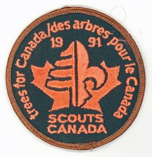 Badge - Scouts Canada - Trees for Canada - 1991