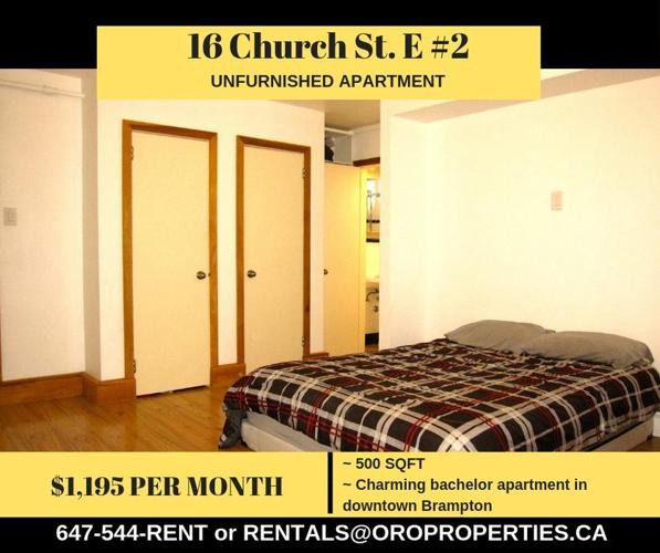 Beautiful Brampton Bachelor Suite - 16 Church Suite #2