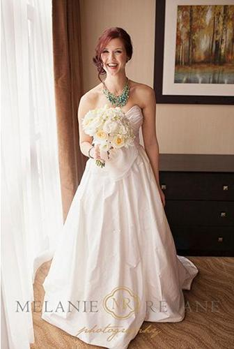 Beautiful, one-of-a-kind Paloma Blanca Wedding Gown