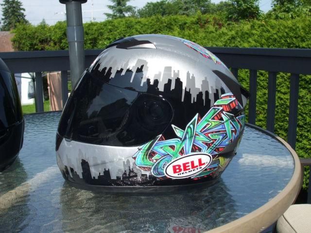 """Bell Apex Helmet """"Tagged"""" Graphics"""