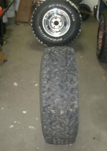 BF Goodrich All Terrain TAs with 5 bolt Chevy truck rims