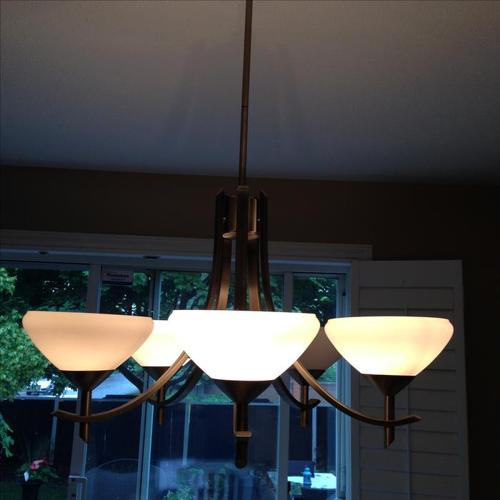 Brushed Nickel Kichler Ceiling Light Fixture in Excellent Condition