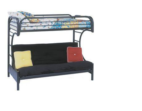 Bunk bed with futon bottom can be a couch