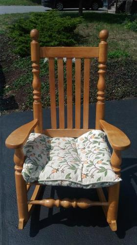 Canadian hardwood rocking chair