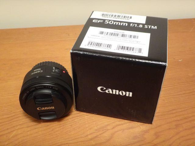 CANON EF 50MM F1.8 STM LENS with B + W UV filter