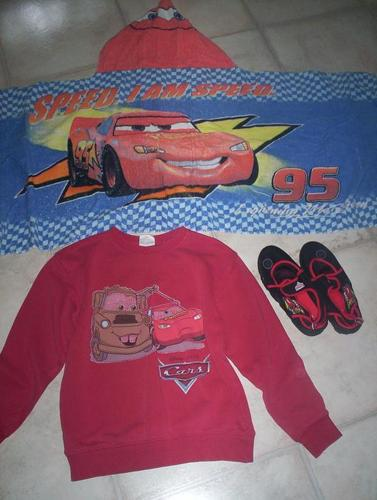 Cars Sweater, Water Shoes and Towel with hood