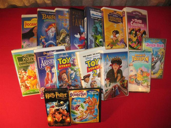 Cartoons & Movie for Children VHS Tapes