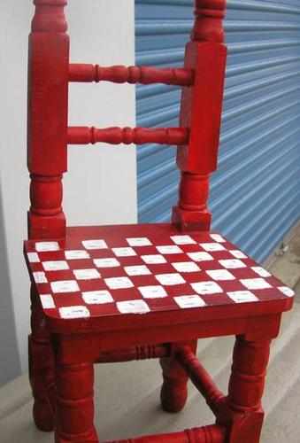 child/doll chair made from handcrafted wood