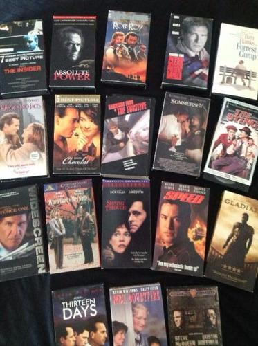 Collection of VHS tapes/DVDs