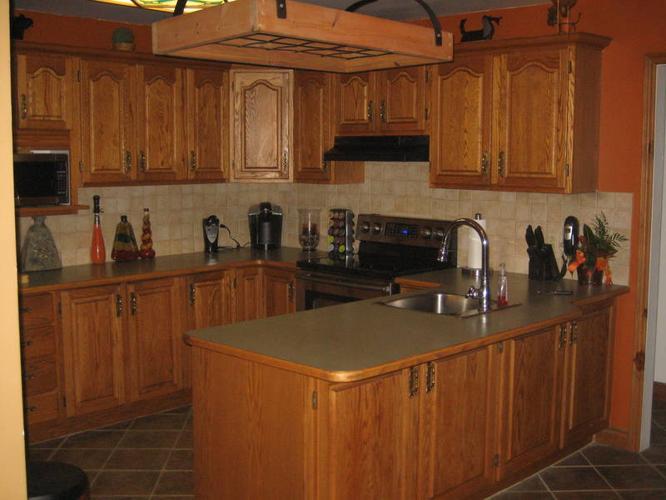 Complete Solid Oak Kitchen Cabinets