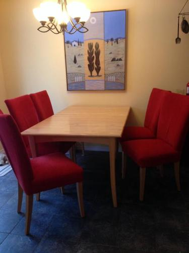 Contemporary Solid Maple Dining Set with Hutch